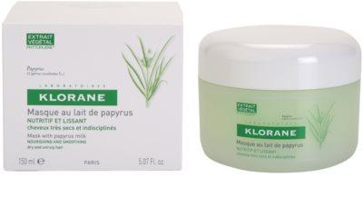 Klorane Papyrus Milk mascarilla nutritiva para cabello seco y rebelde 1