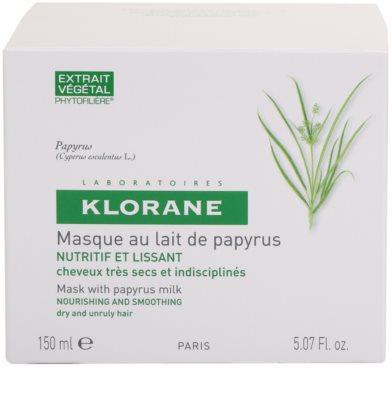 Klorane Papyrus Milk mascarilla nutritiva para cabello seco y rebelde 3