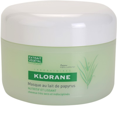 Klorane Papyrus Milk máscara nutritiva para cabelo seco e rebelde