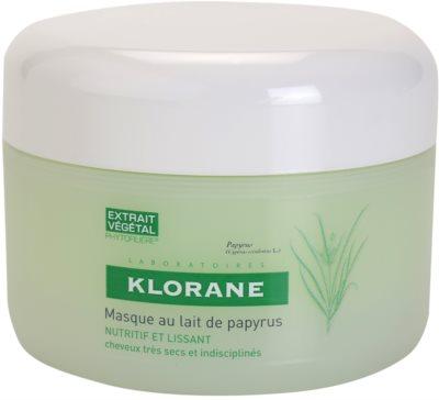 Klorane Papyrus Milk mascarilla nutritiva para cabello seco y rebelde