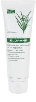 Klorane Papyrus Milk crema sin aclarado para alisar y nutrit cabello seco y rebelde