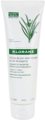 Klorane Papyrus Milk крем без отмиване за изглаждане и подхранване на непокорна коса