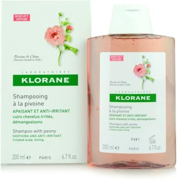 Klorane Pivoine de Chine champô apaziguador para couro cabeludo sensíve 1