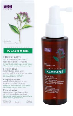 Klorane Quinine sérum para la caída de cabello crónica con triple acción 1