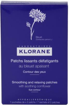 Klorane Yeux Sensibles adesivis relaxantes e suavizantes  para o contorno dos olhos 2