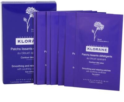 Klorane Yeux Sensibles adesivis relaxantes e suavizantes  para o contorno dos olhos
