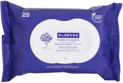 Klorane Yeux Sensibles кърпички за почистване на грим