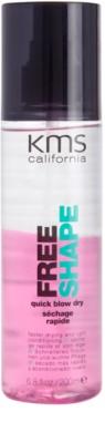 KMS California Free Shape spray care nu necesita clatire pentru o uscare rapida