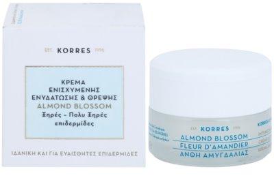 Korres Face Almond Blossom crema hidratante y nutritiva para pieles secas y muy secas 2