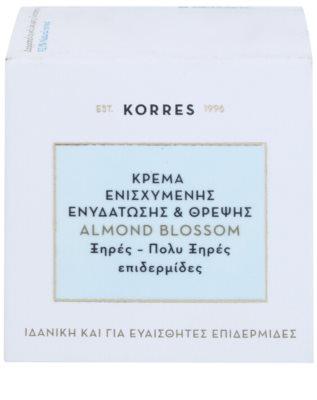 Korres Face Almond Blossom crema hidratante y nutritiva para pieles secas y muy secas 3