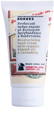 Korres Body Almond Oil & Calendula hidratáló kézkrém mindennapi használatra