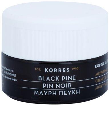 Korres Face Black Pine creme de dia para rugas para pele seca a muito seca