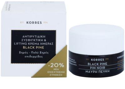 Korres Face Black Pine Lifting-Tagescreme gegen Falten für trockene bis sehr trockene Haut 2