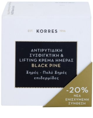 Korres Face Black Pine Lifting-Tagescreme gegen Falten für trockene bis sehr trockene Haut 3