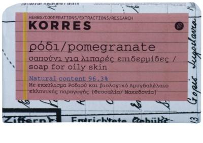Korres Body Pomegranate tuhé mydlo pre mastnú pokožku