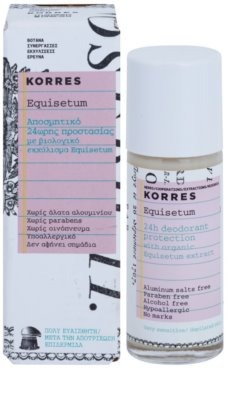 Korres Body Equisetum Desodorizante Roll-On sem alumínio 24 h 1