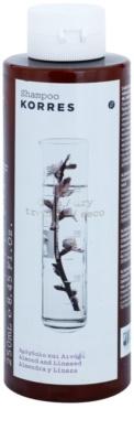 Korres Hair Almond and Linseed champú para el cabello seco y dañado