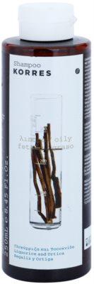 Korres Hair Liquorice and Urtica champô para cabelos oleosos