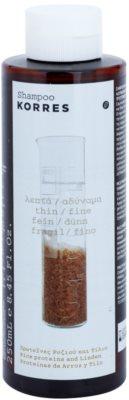 Korres Hair Rice Proteins and Linden champô para cabelo fino