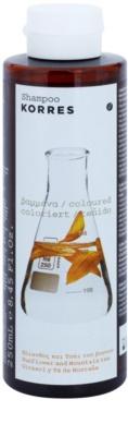 Korres Hair Sunflower and Mountain tea champú para cabello teñido