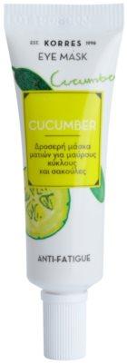 Korres Mask&Scrub Cucumber mascarilla para ojos antibolsas y antiojeras