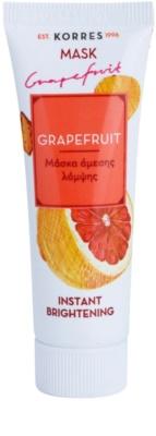 Korres Mask&Scrub Grapefruit aufhellende Hautmaske mit Sofort-Effekt