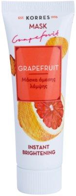 Korres Mask&Scrub Grapefruit máscara iluminadora com efeito instantâneo