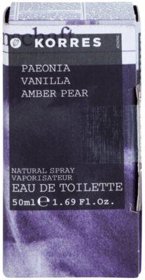 Korres Paeonia (Vanilla/Amber/Pear) eau de toilette nőknek 1