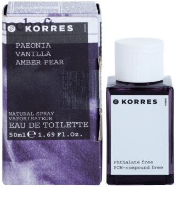 Korres Paeonia (Vanilla/Amber/Pear) Eau de Toilette para mulheres