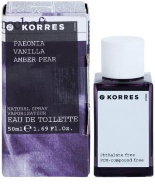Korres Paeonia (Vanilla/Amber/Pear) Eau de Toilette pentru femei