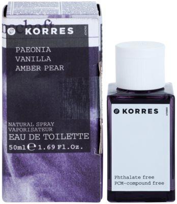 Korres Paeonia (Vanilla/Amber/Pear) toaletná voda pre ženy