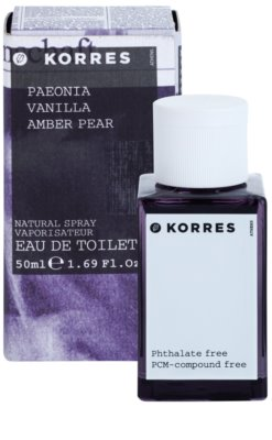 Korres Paeonia (Vanilla/Amber/Pear) eau de toilette nőknek 2