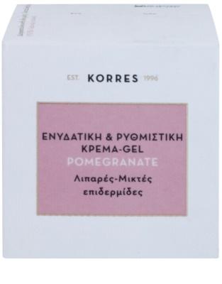 Korres Face Pomegranate зволожуючий крем-гель, нормалізуючий роботу сальних залоз для комбінованої та жирної шкіри 3