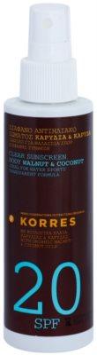 Korres Sun Care Walnut & Coconut nem zsíros fényvédő testre SPF 20