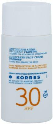 Korres Sun Care Yoghurt crema pentru fata cu protectie solara SPF 30