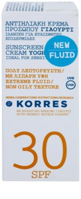 Korres Sun Care Yoghurt ochronny krem do twarzy SPF 30 2