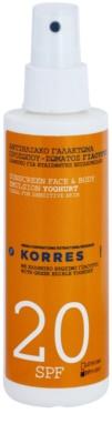 Korres Sun Care Yoghurt emulsão bronzeadora SPF 20