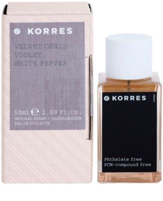 Korres Velvet Orris (Violet/White Pepper) Eau de Toilette para mulheres