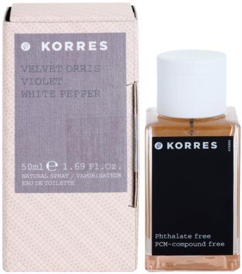 Korres Velvet Orris (Violet/White Pepper) Eau de Toilette pentru femei