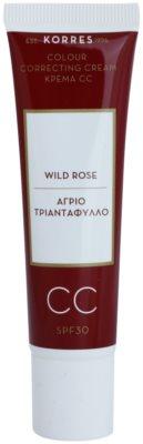 Korres Face Wild Rose CC creme iluminador SPF 30