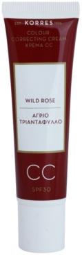 Korres Face Wild Rose crema CC con efecto luminoso  SPF 30