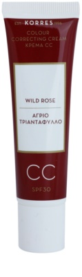 Korres Face Wild Rose élénkítő CC krém SPF 30