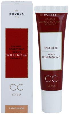 Korres Face Wild Rose élénkítő CC krém SPF 30 1