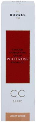 Korres Face Wild Rose élénkítő CC krém SPF 30 2