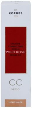 Korres Face Wild Rose posvetlitvena CC krema SPF 30 2