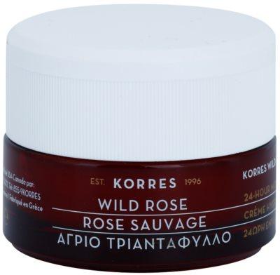 Korres Face Wild Rose aufhellende und feuchtigkeitsspendende Creme für fettige und Mischhaut