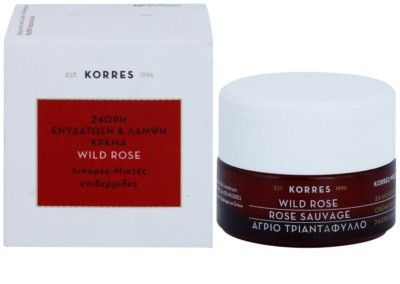 Korres Face Wild Rose creme hidratante e iluminador para pele mista e oleosa 2