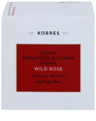 Korres Face Wild Rose creme hidratante e iluminador para pele mista e oleosa 3