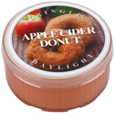 Kringle Candle Apple Cider Donut Gold & Cashmere čajna sveča