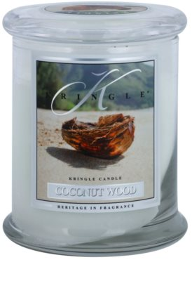 Kringle Candle Coconut Wood vela perfumada   mediano